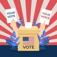 elecciones generales de EE. UU. vector