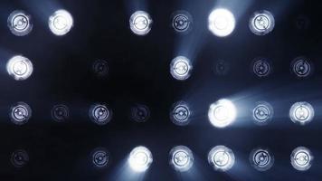 Lights flashing spotlight wall video