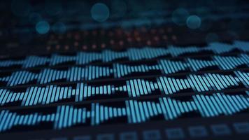 Digital audio waves on screen video