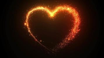 Draws a heart shape video