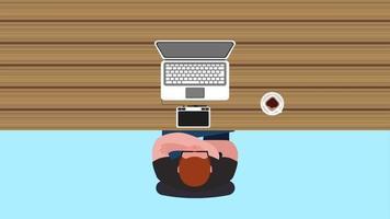 proceso de trabajo del hombre diseñador en la computadora portátil en el escritorio video