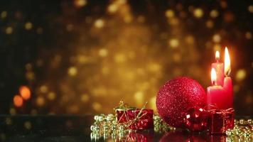 Christmas decorations seamless loop background video