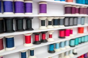 colorful thread cotton in the tailor shop photo
