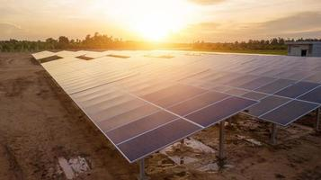 Solar photovoltaic panels are an alternative energy. photo