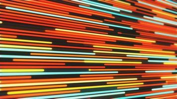 Abstract background of glowing neon red and orange lines video
