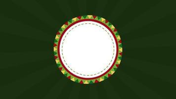 mexican circular frame decorative animation video