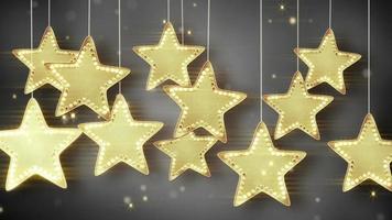 Gold hanging stars christmas lights video