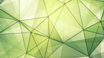 Green triangles and lines pattern video