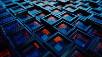 Abstract background from metal cubes with random offset effect video