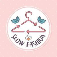 slow fashion label vector