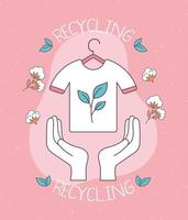 slow fashion recycling vector