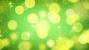 Yellow green bokeh light loopable background video