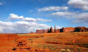 Paisaje de la zona desértica de Monument Valley, EE. foto