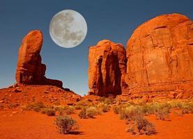 El monumento del pulgar en Monument Valley Arizona foto