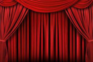 Abstract Red Theatre Stage Drape Background photo