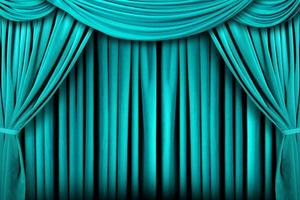 Abstract Teal Theatre Stage Drape Background photo