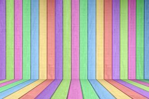 elemento de fondo de valla de madera de color pastel foto