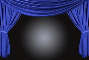 escenario de teatro antiguo y elegante con cortinas de terciopelo. foto