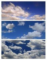 Multiple Cloudscapes For Editing Landscapes or Banners photo