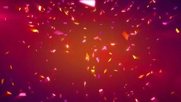 Red shiny confetti background loop video