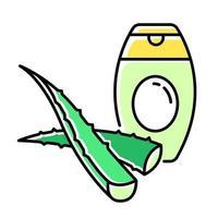 Aloe vera shampoo green color icon vector