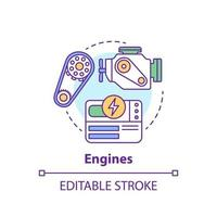 Engines concept icon vector