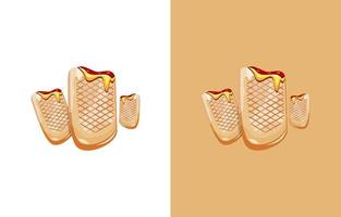 French tacos design vector