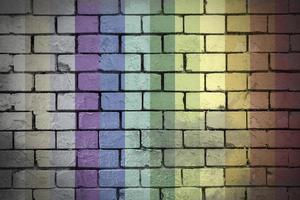 pared, ladrillo, urbano, colores, gay, grunge foto