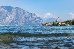 Lake Garda and the historic center of Malcesine. photo