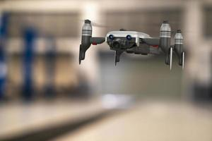 Drone technology engineering device industry flying in industrial logistic export import product home delivery service logistics shipping transport transportation or car auto parts 3D rendering photo
