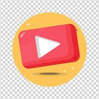 Video or media play icon on blank background vector