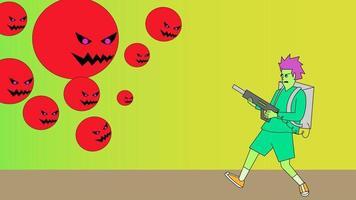 shot corona virus illustration design vector