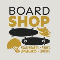 skatebording emblem vector illustration design