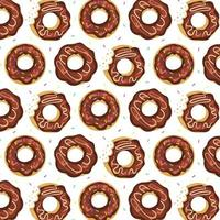 Donuts Seamless Pattern. vector