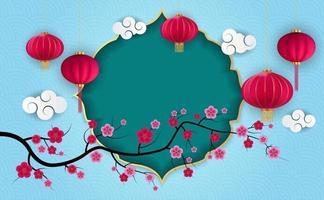 Fondo de vacaciones chino abstracto con flores de ciruelo. ilustración vectorial eps10 vector