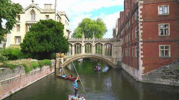 The Bridge of sigh at College in Cambridge, UK video