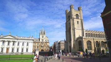 Great St Mary Church the church of Cambridge in UK video