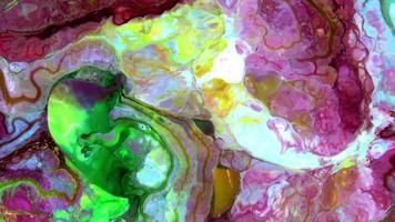 Abstract Organic Colors Spreading video