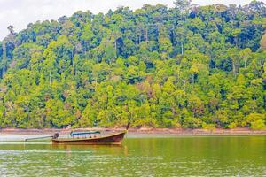 Long-tail boat Koh Phayam Ao Khao Kwai Beach Thailand photo