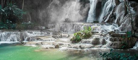 Worlds most beautiful waterfalls Kuang Si waterfall Luang Prabang Laos photo