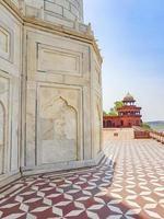 Taj Mahal Agra India Mogul marble mausoleum amazing detailed architecture photo