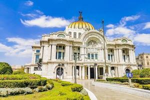 Amazing palace of fine arts architectural masterpiece in Mexico City photo