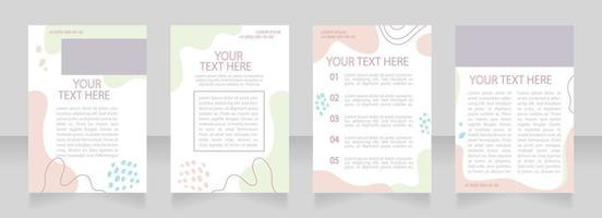 Business model blank brochure layout design. Marketing strategy. Vertical poster template set with empty copy space for text. Premade corporate reports collection. Editable flyer paper pages vector