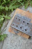 Making holes by drilling metal photo