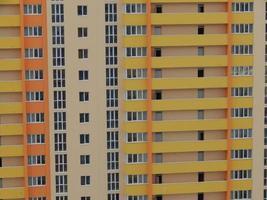 nuevos edificios residenciales de gran altura y de varios apartamentos foto