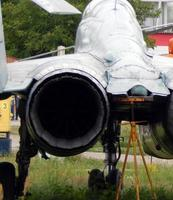 Civil and military aircraft in detail photo