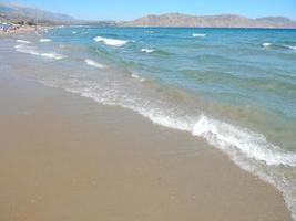 Travel in Greece on the island of Crete mountains and the sea photo