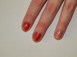 esmalte de uñas de manicura, color y esmalte de uñas foto
