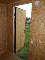 construcción de cabinas de trolley para cabañas en el grifo foto