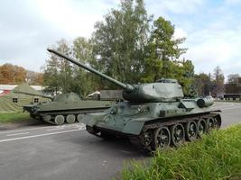 Military cars, equipment, retro items and elements photo